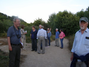 The group discussing observations and future options for the country park